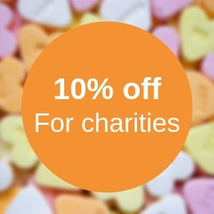 10%25 discount for charities