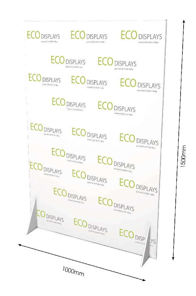 Cardboard Banner Stand - With Dimensions