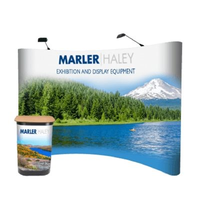 4x3 Curved Pop Up Display Stand Full Kit