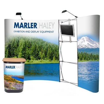 4x3 Curved Pop Up Display Stand TV