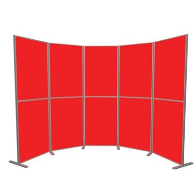 Lightweight Panel and Pole 10 Panels Vertical