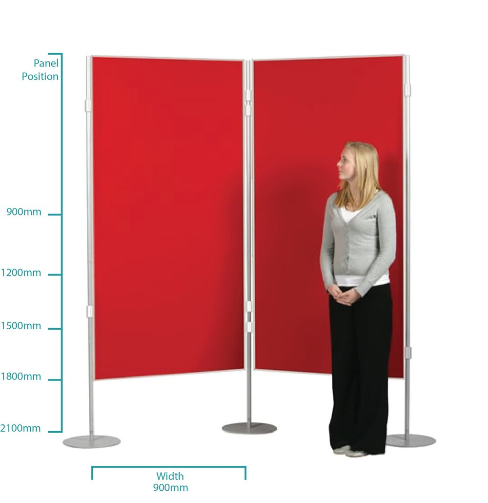 Pole and panel display board dimensions