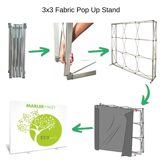 Pre-Owned Fabric Pop Up Stand Images