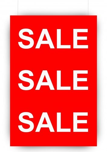 Hanging Foam Board Sign Sale