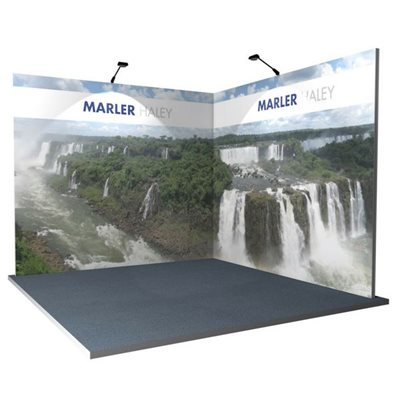 3x3 L Shaped Modular Exhibition Systems