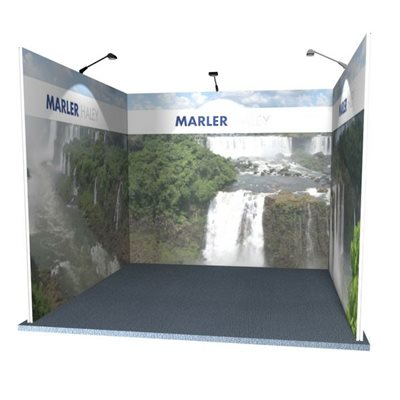 3x3 U Shaped Modular Exhibition System