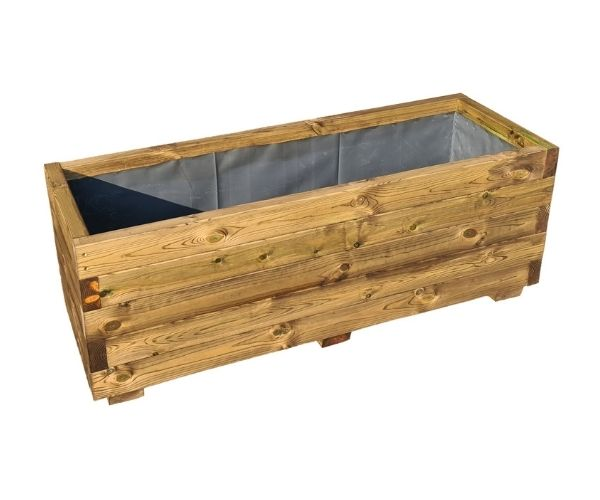 Standard Stained Wood Planter