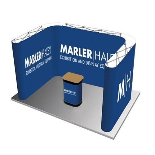 3.3m x 2.3m U Shaped Linking Pop Up Stand