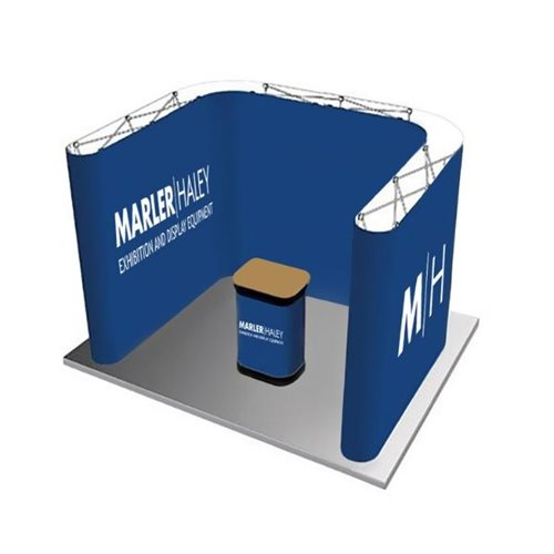 3x2 U Shaped Linking Pop Up Stand