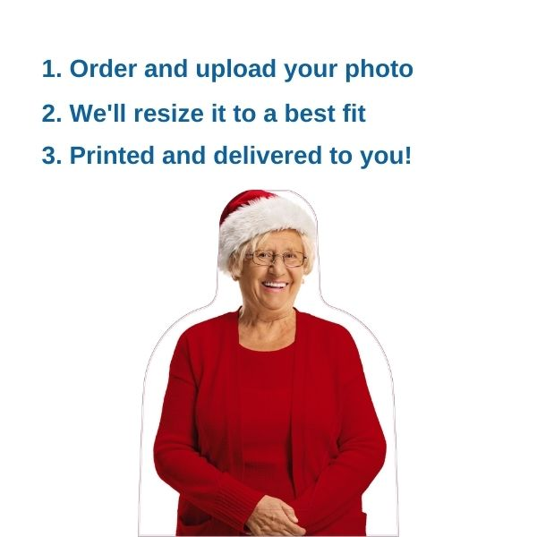 Christmas Photo Cardboard Cut Out Instructions