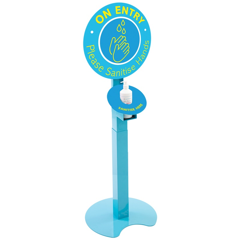 Branded Multi-Height Sanitiser Station