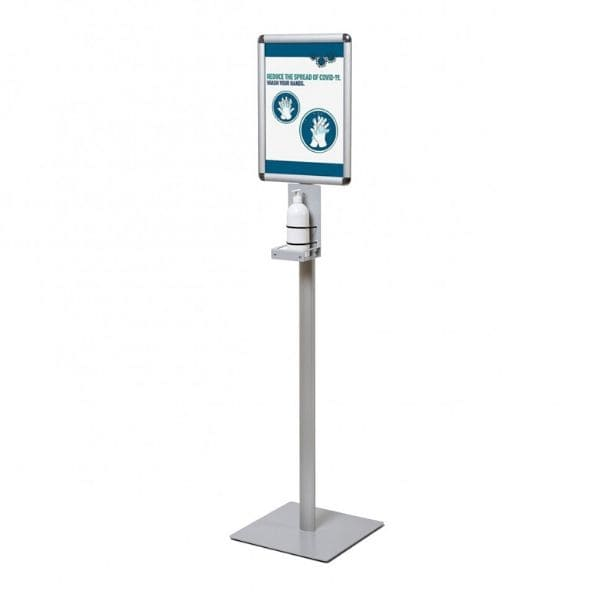 Economy Hand Sanitiser Station with A3 Snap Frame