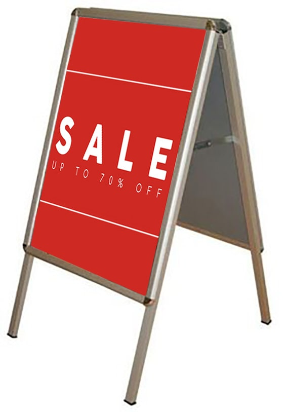 A-Board Sale Pavement Sign