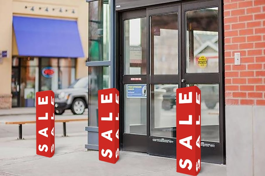 Bollard Covers - 4mm Correx Sale Signs