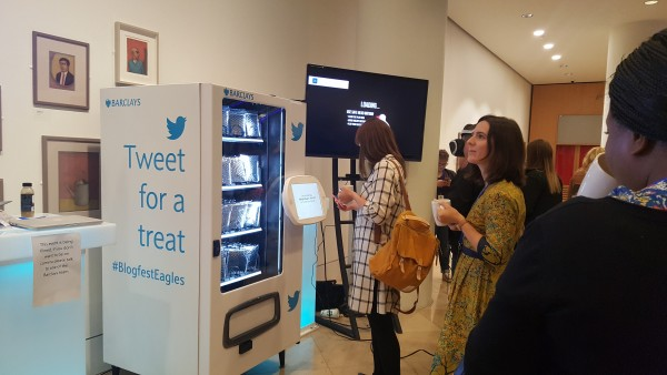 Barclays Tweet for a Treat vending machine