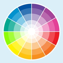 Display stand colour wheel
