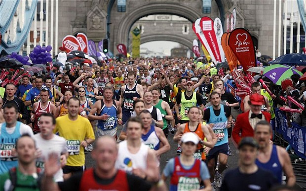 Outdoor Flags at London Marathon