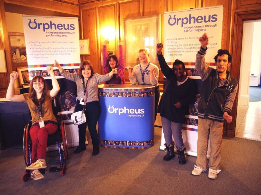 Orpheus Charity winning Marler Haley's charity competition for Display Equipment