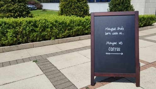 Say goodbye to boring A board pavement sign