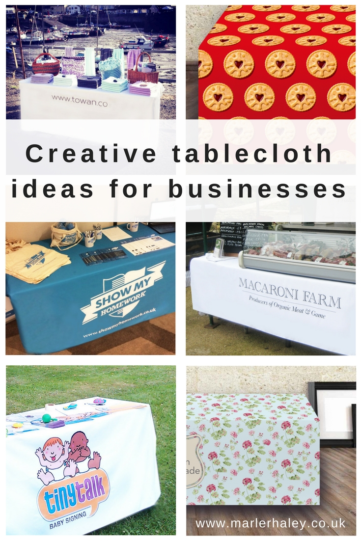 Creative tablecloth ideas for businesses
