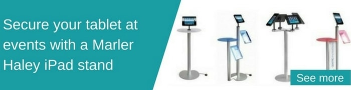 Secure your tablet at events with an Ipad Stand. See our range...