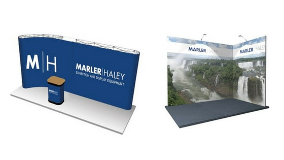 Modular and linking pop up display stands