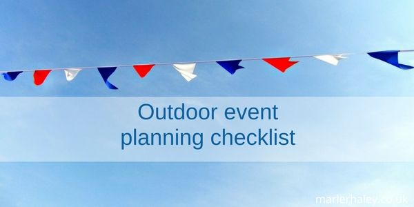 Outdoor Event Planning Checklist