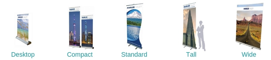 Pull up banner sizes