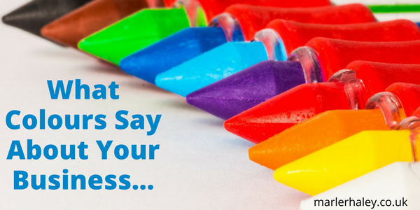 what colours say about your business