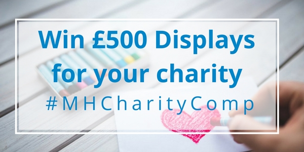 win 500 displays for charity