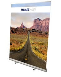 Wide pop up banners
