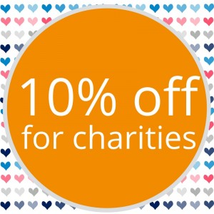 10% off for charities