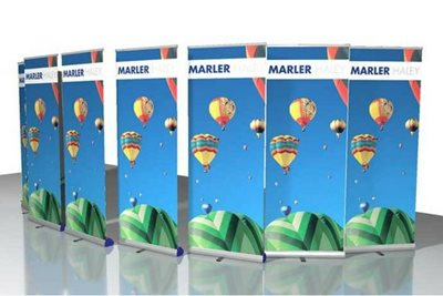 10x Junior Roller Banner Stands