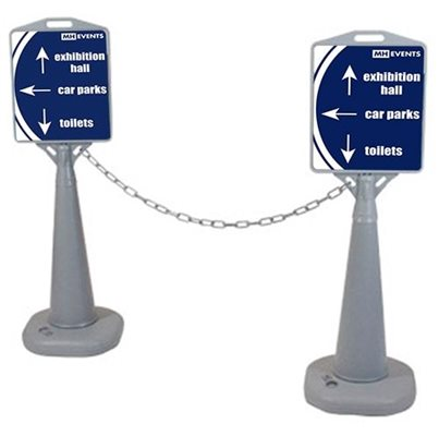 Outdoor Sign Stand and Barrier