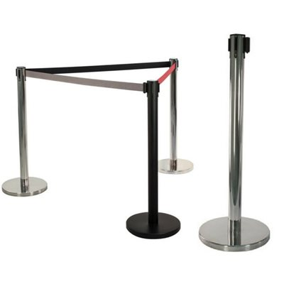Retractable Silver Pedestrian Barrier