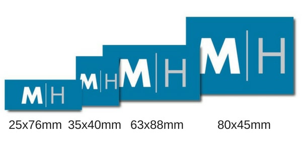 Rectangular Custom Sticker Measurements