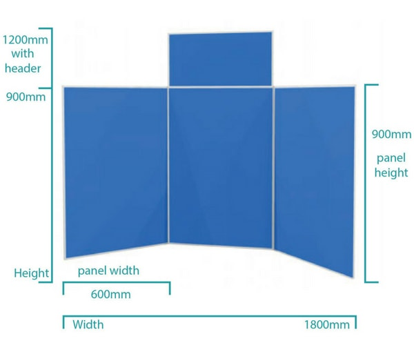 3 Panel Aluminium Folding Kit Dimensions