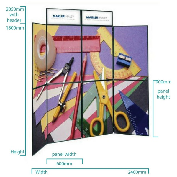 8 Frame Kit Folding Display Board Dimensions