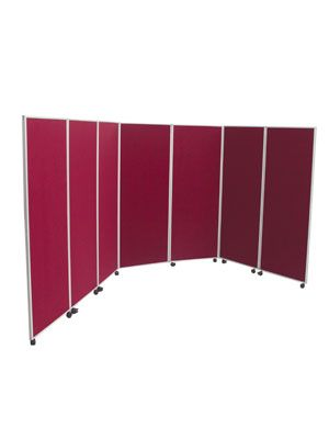 Wheeled Folding Room Divider 7 Panels Open