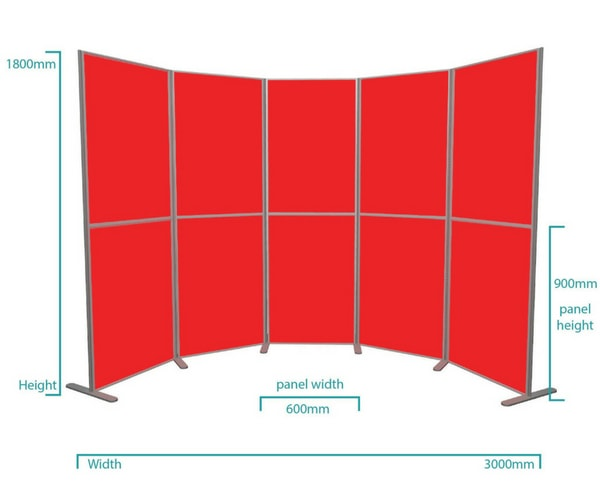 10 Panel lightweight pole and panel kit portrait dimensions