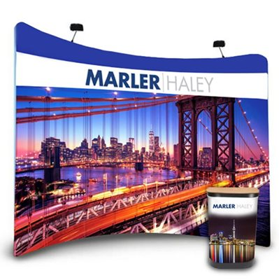 Curved Tension Fabric Display Bundle