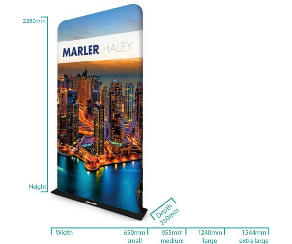 Fabric Display Screen Dimensions