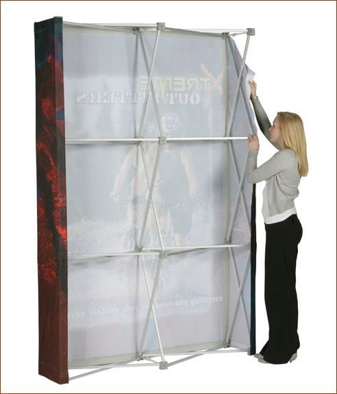 Fabric Pop Up Display Stand Rear Assembly