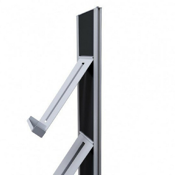 Freestanding A4 Brochure Rack Side View