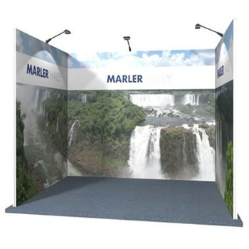 3x4 U Shaped Modular Exhibition Stand