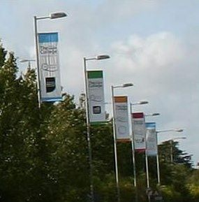 Signpost Outdoor Flag Example