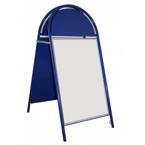 Blue Curved A-Board Sign