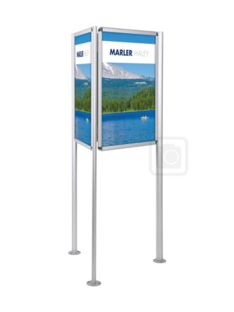 3 Sided Poster Stand