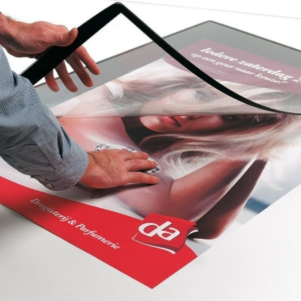 Floor Poster Mat Assembly