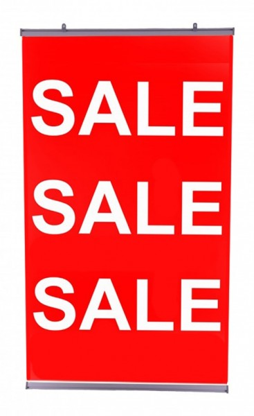 Poster Paper Hanging Sale Banner